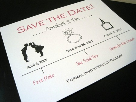 Cute Wedding Save The Date Ivory Red Black Thumb1 450x337