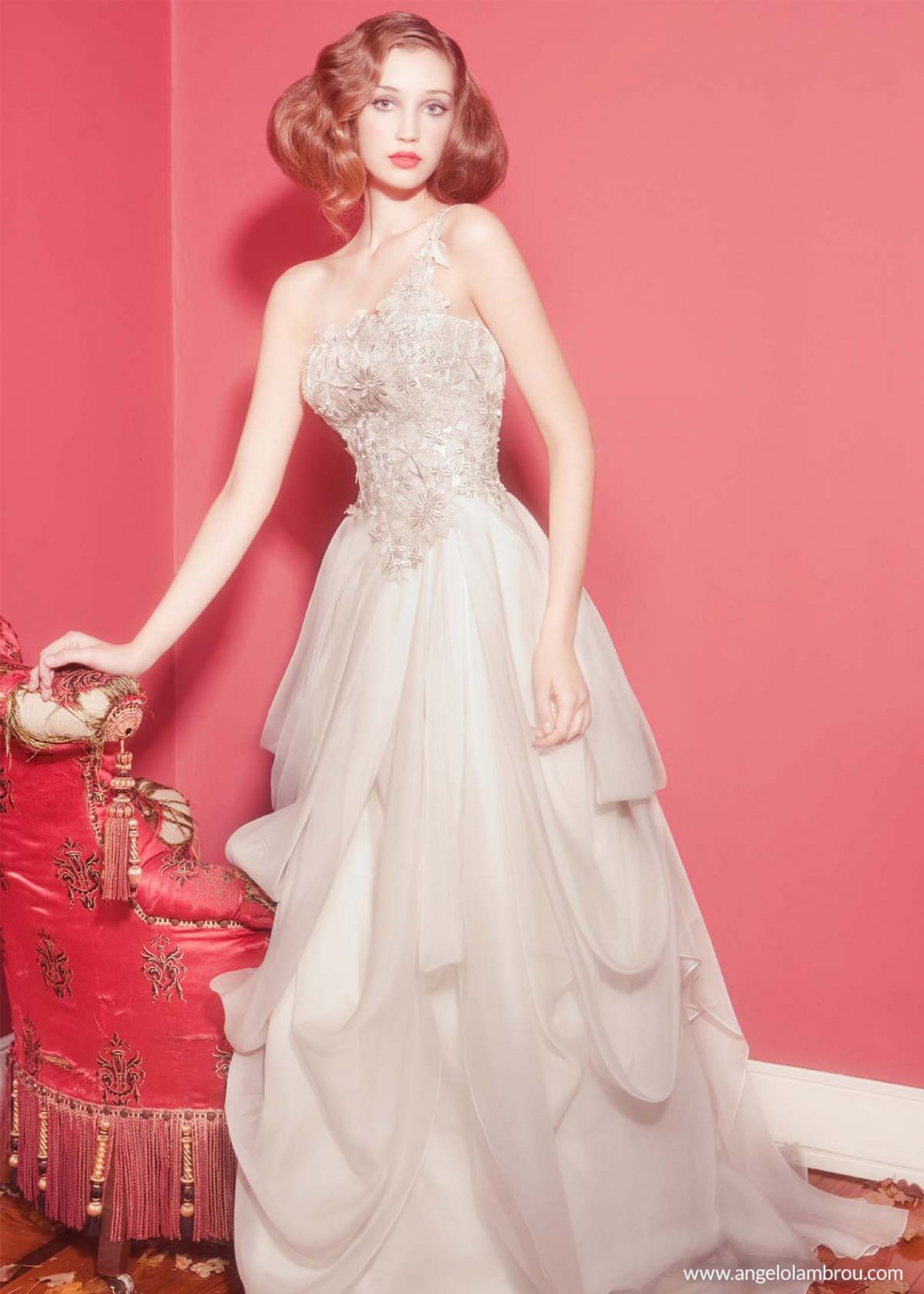 Our Silk Organza Draped Wedding Gown Has Become A Signature Classic