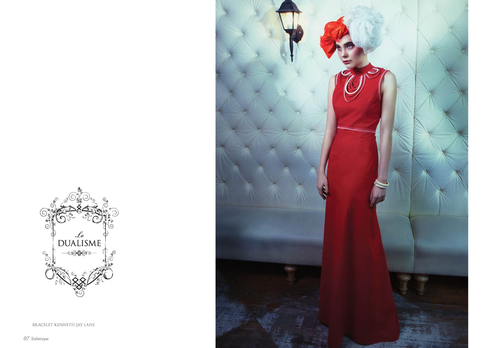 Angelo Lambrou Couture Gown Cabaret Shoot Red