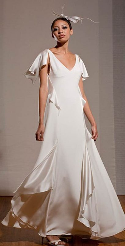 Angelo Lambrou Couture Gown Deco Dita Parlow Front Spin