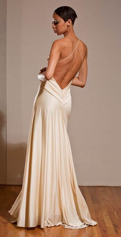 Angelo Lambrou Couture Gown Deco Evonne Moore Back