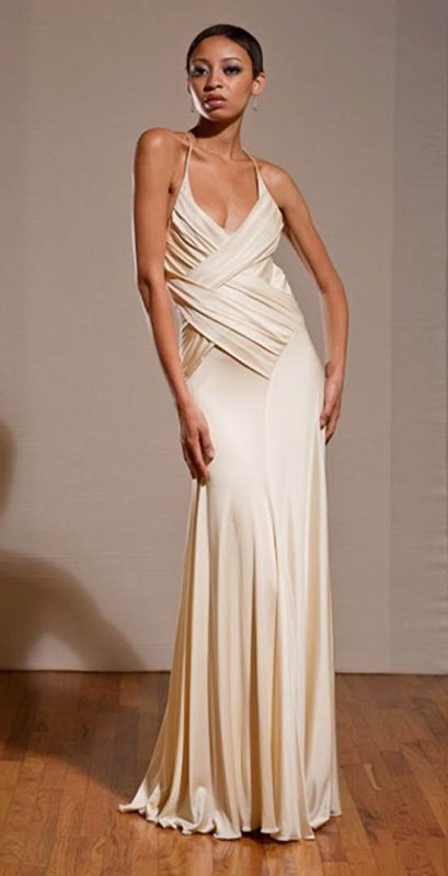 Angelo Lambrou Couture Gown Deco Evonne Moore Front