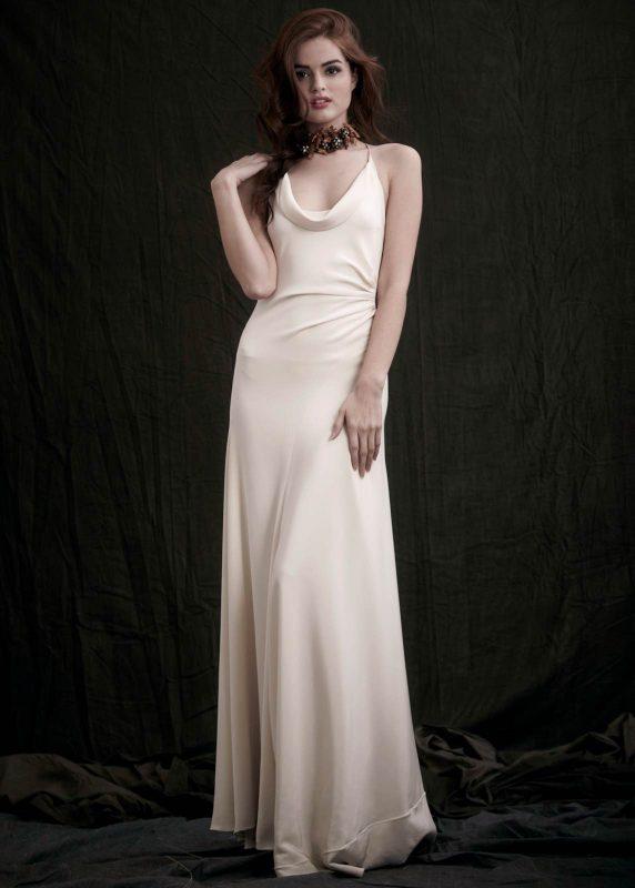 Angelo Lambrou Couture Gown Flora Shoot Halter