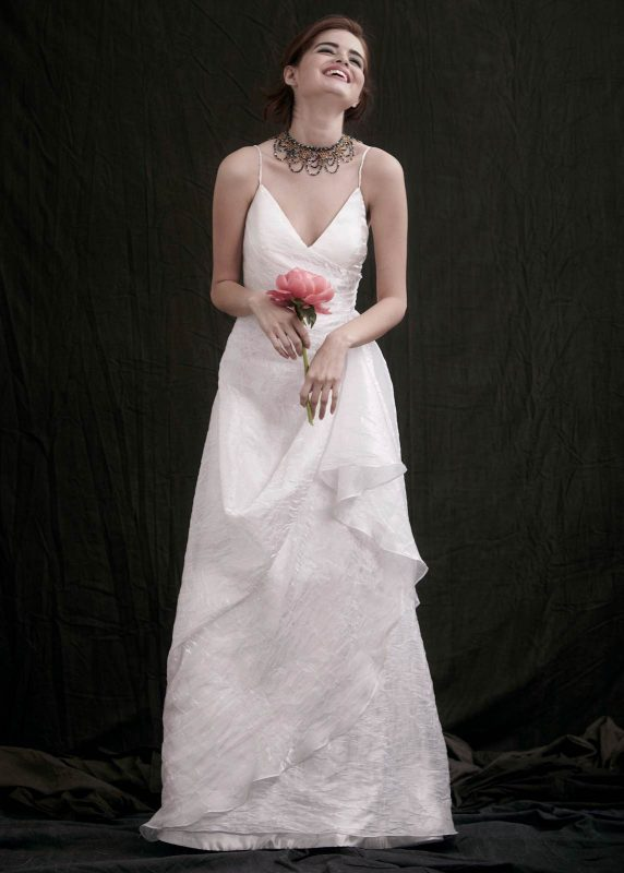 Angelo Lambrou Couture Gown Flora Shoot Plunging V Neck