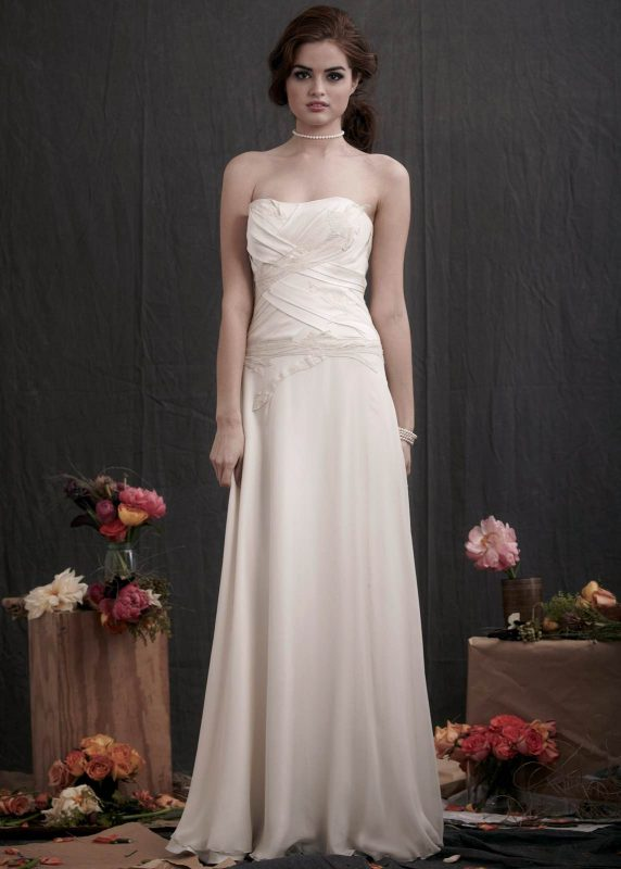 Angelo Lambrou Couture Gown Flora Shoot Strapless