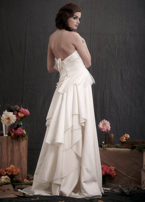 Angelo Lambrou Couture Gown Flora Shoot Strapless Back