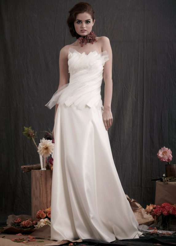 Angelo Lambrou Couture Gown Flora Shoot Strapless Front