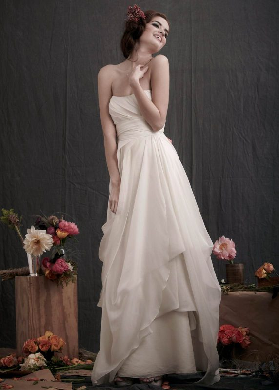 Angelo Lambrou Couture Gown Flora Shoot Strapless Layers