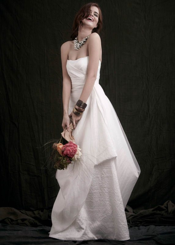 Angelo Lambrou Couture Gown Flora Shoot Strapless Origami