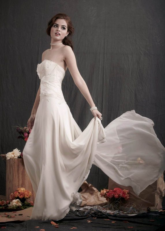 Angelo Lambrou Couture Gown Flora Shoot Strapless With Train