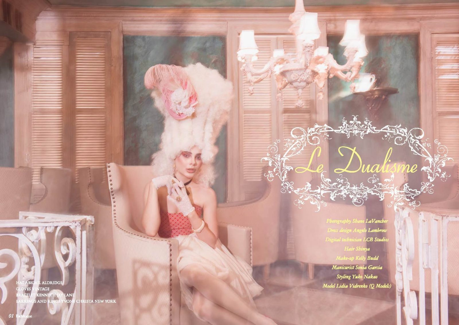 Angelo Lambrou Couture Gown Marie Antoinette Shoot Chair