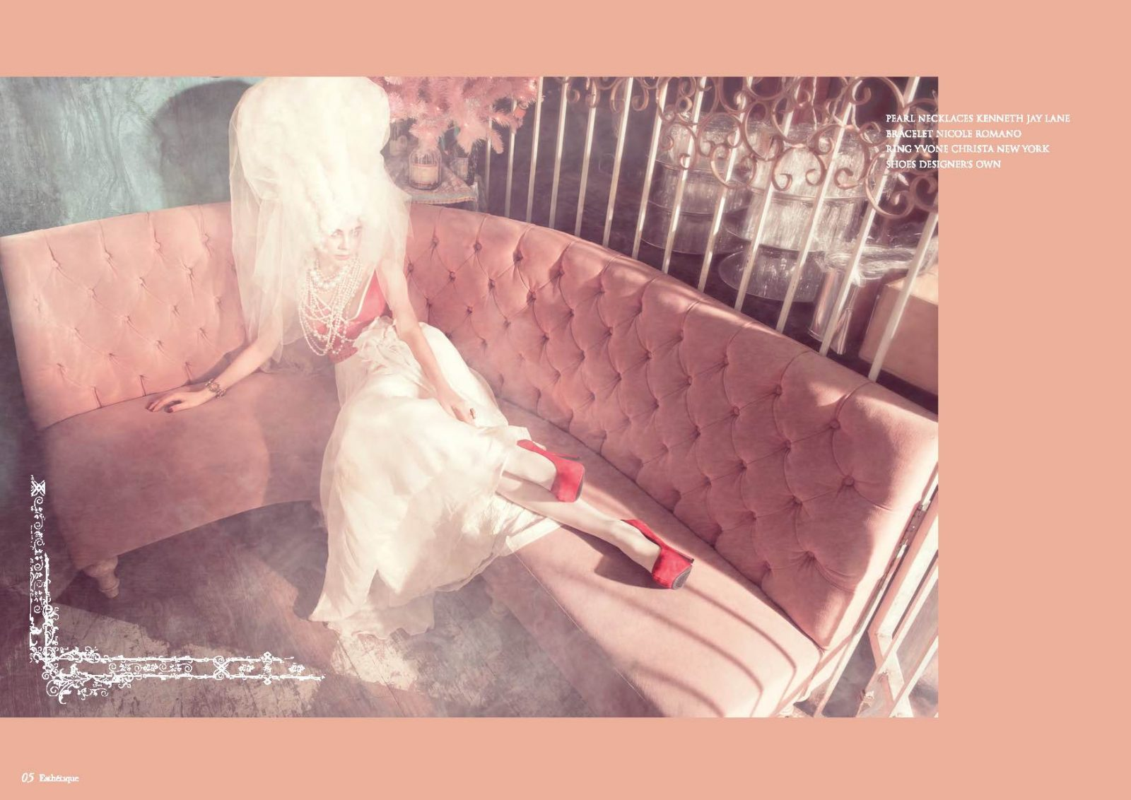 Angelo Lambrou Couture Gown Marie Antoinette Shoot Couch