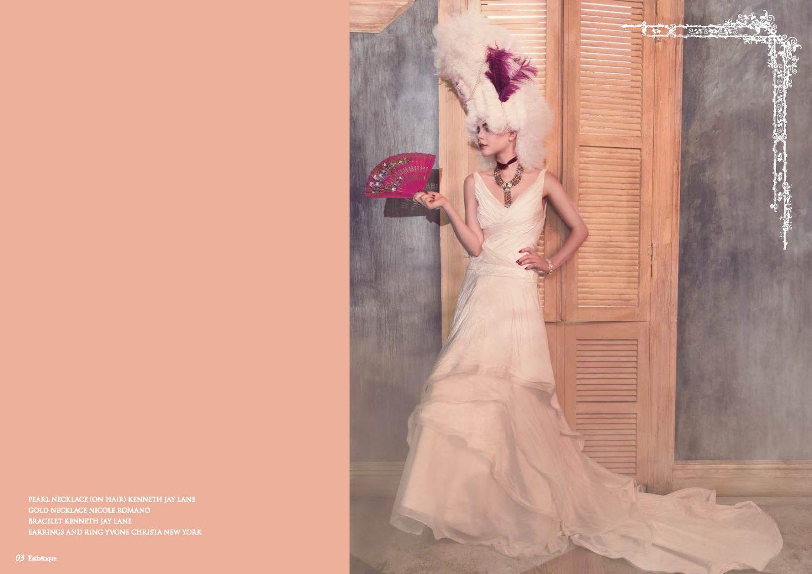 Angelo Lambrou Couture Gown Marie Antoinette Shoot Fan