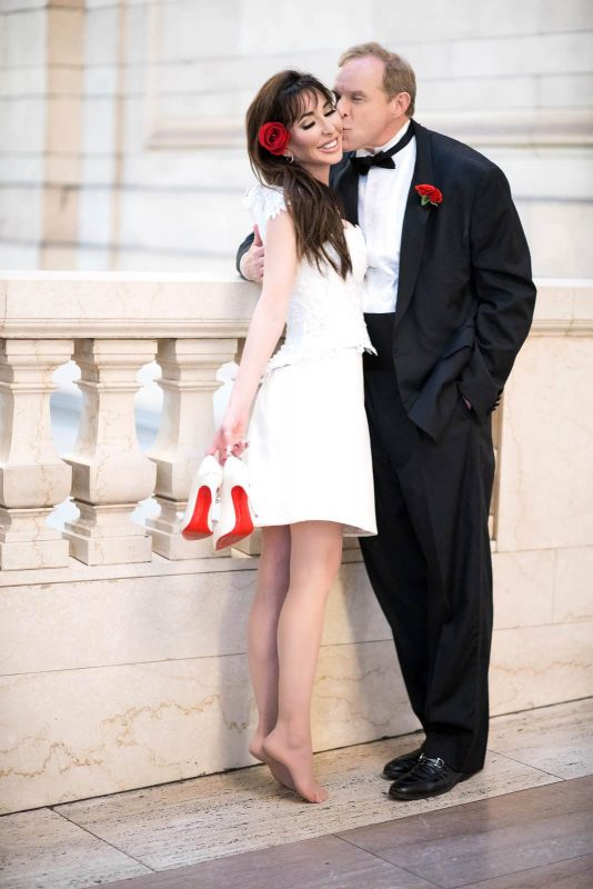 Angelo Lambrou Couture Real Bride Mindy Balcony
