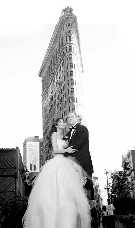 Angelo Lambrou Couture Real Bride Mindy Flatiron Building