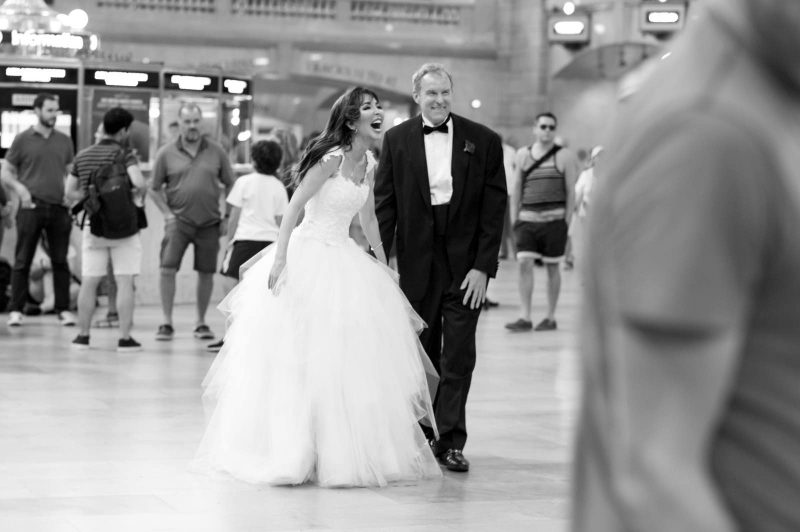 Angelo Lambrou Couture Real Bride Mindy Grand Central Black And White