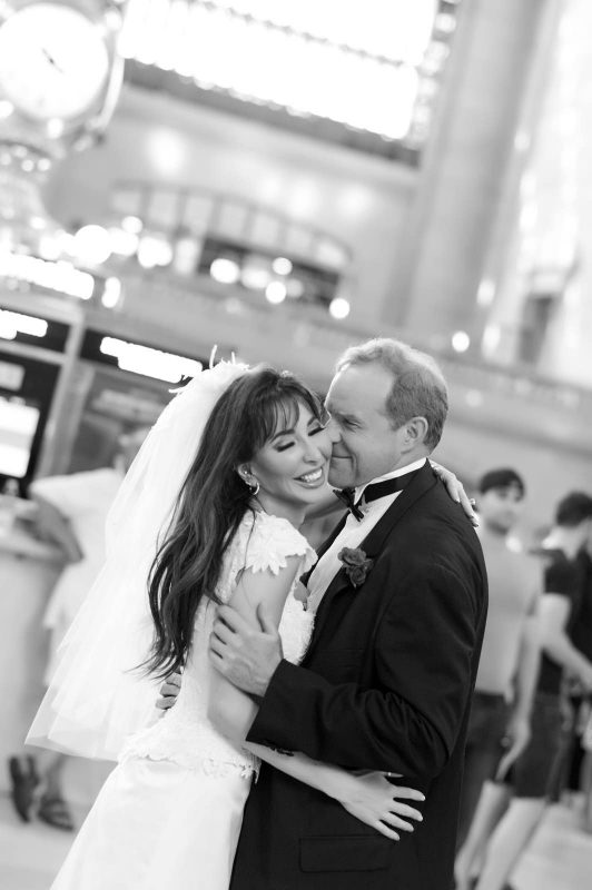 Angelo Lambrou Couture Real Bride Mindy Grand Central Kiss
