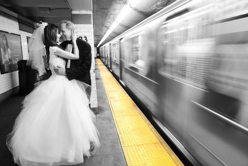 Angelo Lambrou Couture Real Bride Mindy Subway Black And White