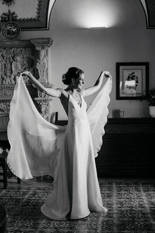 Angelo Lambrou Couture Real Bride Nejila Flowing