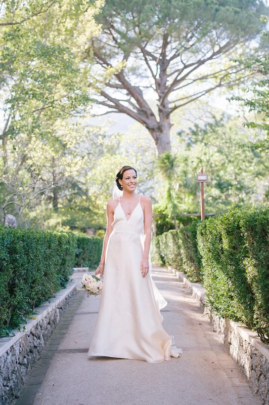 Angelo Lambrou Couture Real Bride Nejila Outdoor Path