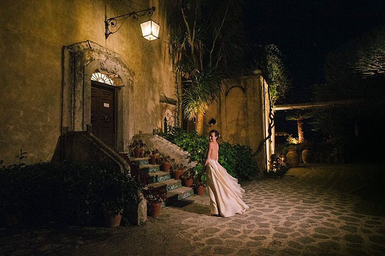 Angelo Lambrou Couture Real Bride Nejila Stairs