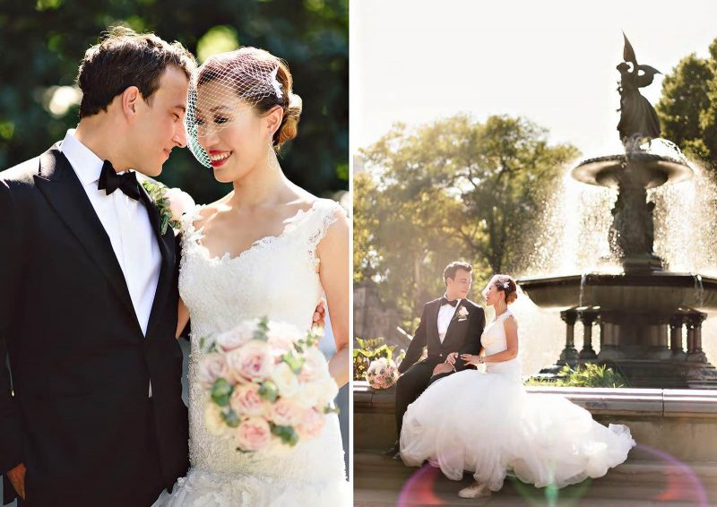 Angelo Lambrou Real Bride Central Park Boathouse Fountain