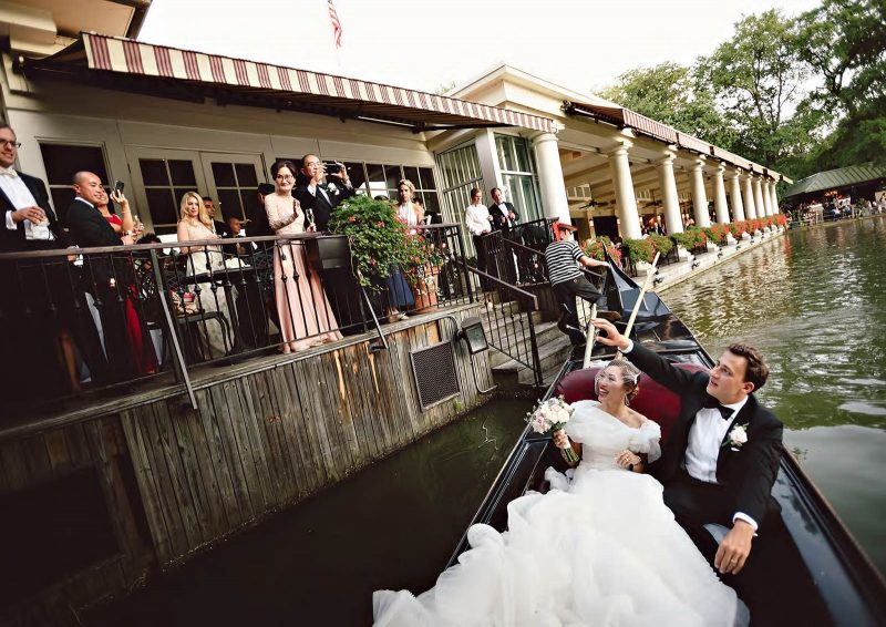Angelo Lambrou Real Bride Central Park Boathouse Gondola