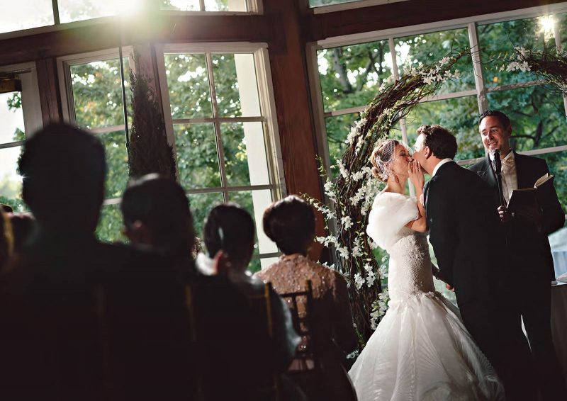 Angelo Lambrou Real Bride Central Park Boathouse Kiss Groom