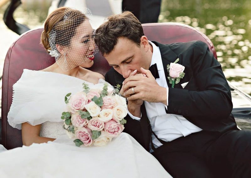 Angelo Lambrou Real Bride Central Park Boathouse Kiss Hand
