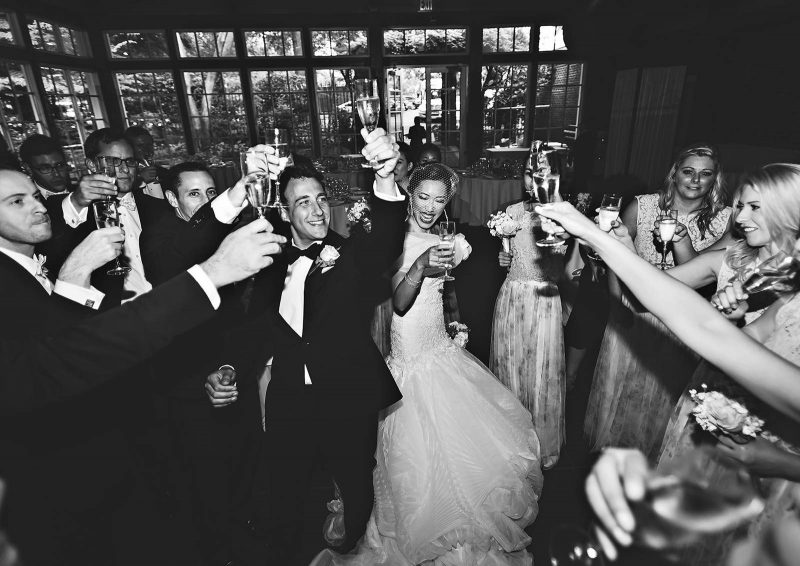 Angelo Lambrou Real Bride Central Park Boathouse Toast