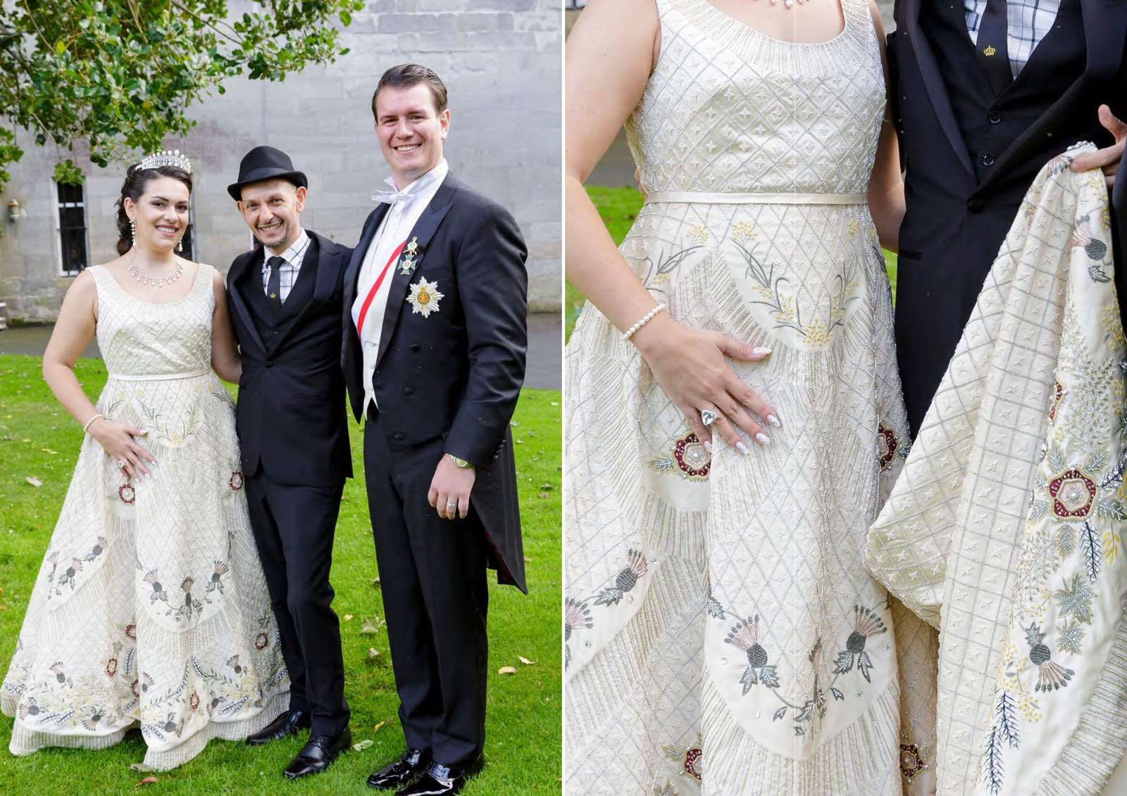 Angelo Lambrou Real Bride Gina Embroidered Gown Details
