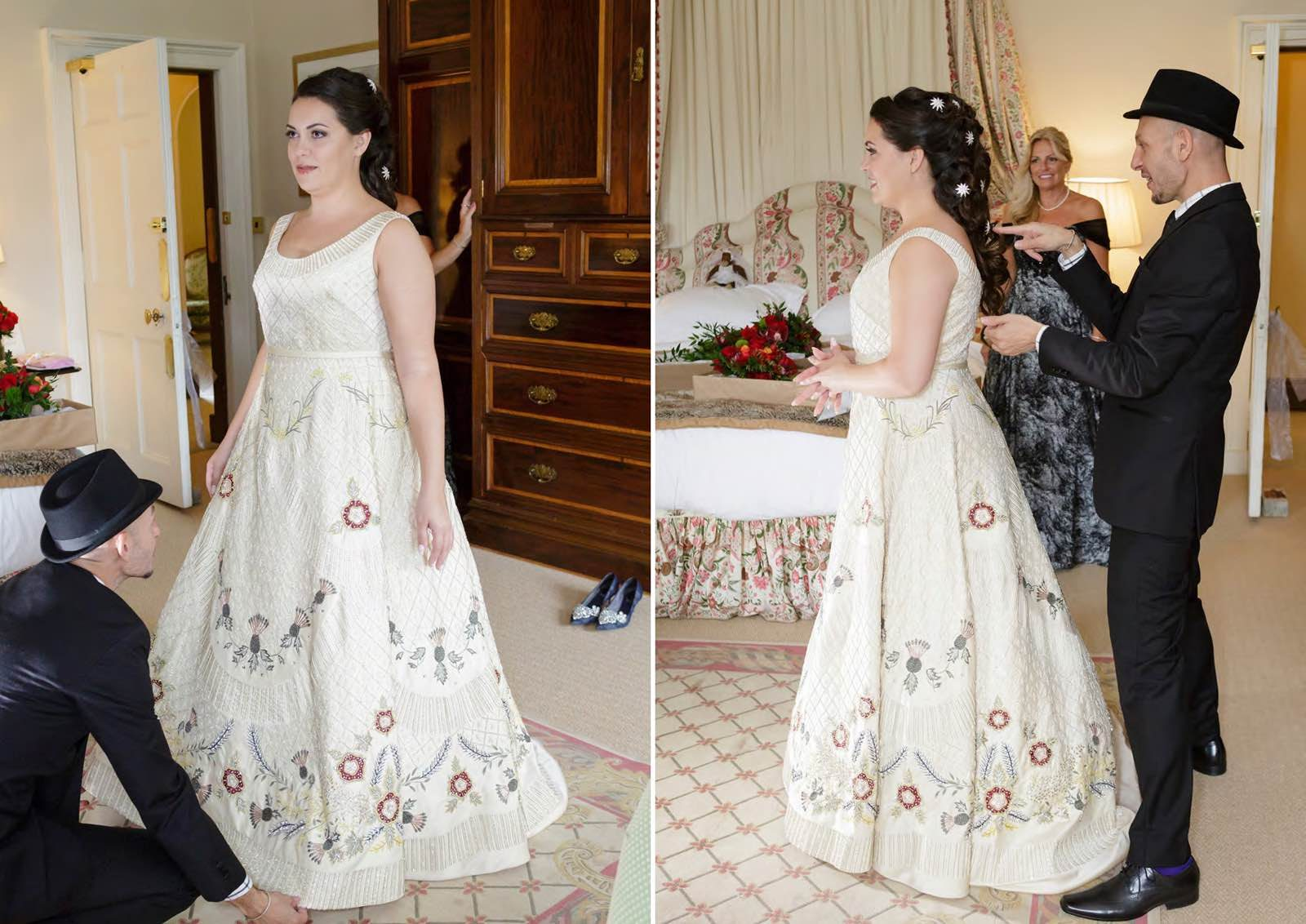 Angelo Lambrou Real Bride Gina In Embroidered Gown