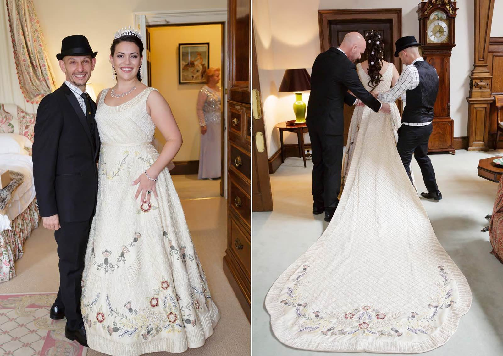 Angelo Lambrou Real Bride Gina With Embroidered Train