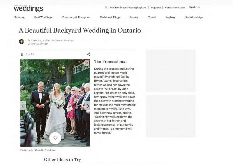 Angelo Lambrou Real Bride Stephanie Martha Stewart Wedding Feature