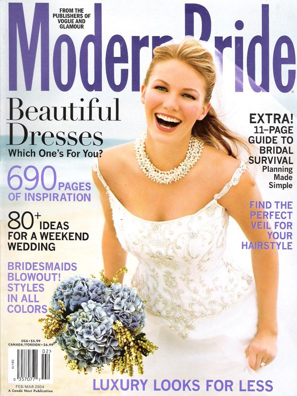 Modern Bride Feb 2004 Cover