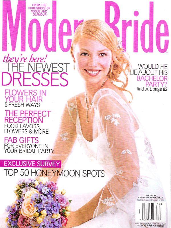 Modern Bride Jan 2003 Cover
